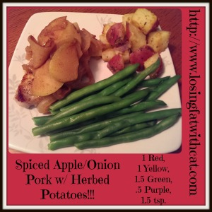 spiced apple-onion pork